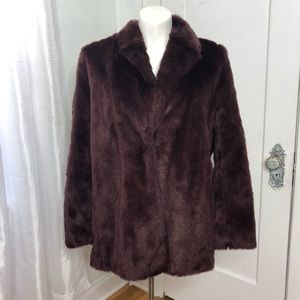 NWT Boden Faux Fur Coat 16 Purple MSRP $250